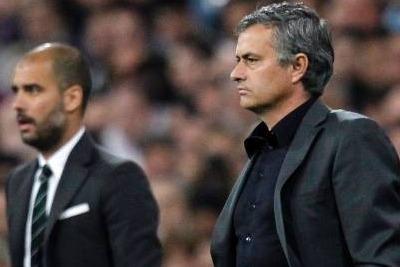 Guardiola e Mourinho (Foto Ansa)