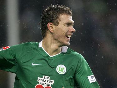 Edin Dzeko, attaccante Wolfsburg (Foto Ansa)
