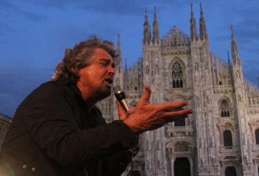 Il comico Beppe Grillo