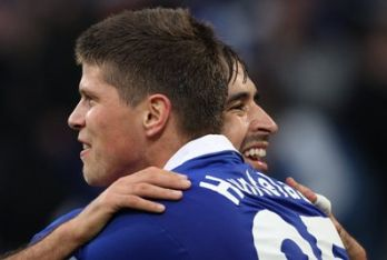 Huntelaar giocatore dello Schalke (Foto Ansa)