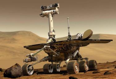 Il rover Spirit che si trova su Marte (Ansa)