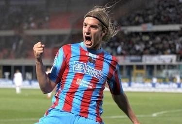 Maxi Lopez, attaccante Catania (Foto Ansa)