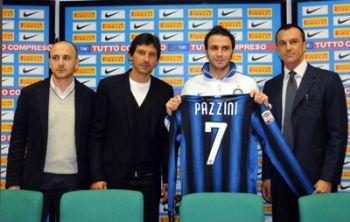Giampaolo Pazzini, attaccante Inter (Foto Ansa)