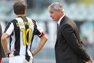 Ranieri con Del Piero ai tempi bianconeri (Foto Ansa)