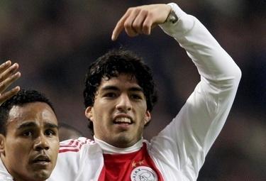 Suarez attaccante dell'Ajax (Foto Ansa)
