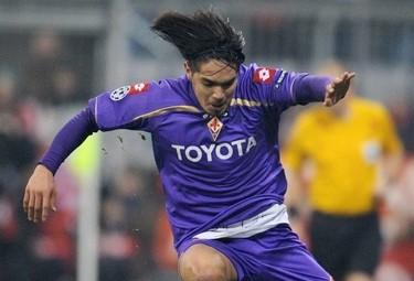 Vargas in gol oggi (Foto Ansa)