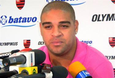Adriano, attaccante Roma (Foto Ansa)