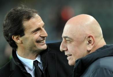 Galliani con Allegri (Foto Ansa)