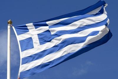 bandiera greca (foto Ansa)