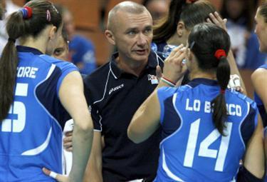 Massimo Barbolini tecnico delle azzurre (Foto Ansa)