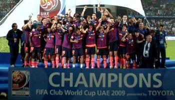 Barcellona vincitore l'anno scorso (Foto Ansa)