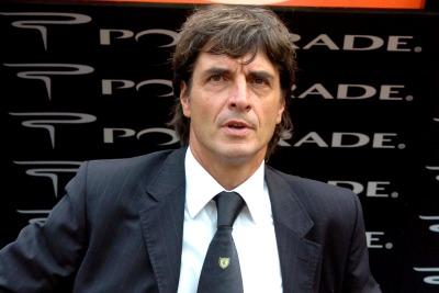 Nella foto Ansa Mario Beretta allenatore del Brescia