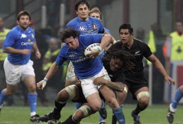 Marco Bergamasco in azione (Foto Ansa)