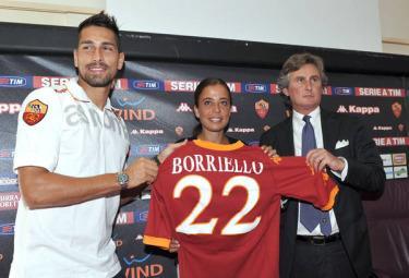Marco Borriello, attaccante Roma (Foto Ansa)