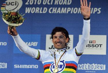 Cancellara oro ai Mondiali (Foto Ansa)