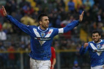 Caracciolo attaccante del Brescia (Foto Ansa)
