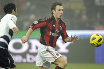 Cassano con la maglia del Milan (Foto Ansa)