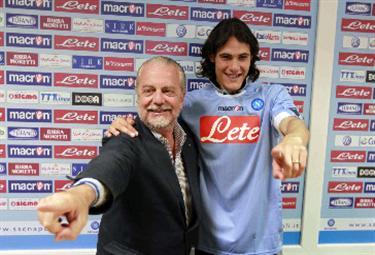 Edinson Cavani, attaccante Napoli (Foto Ansa)