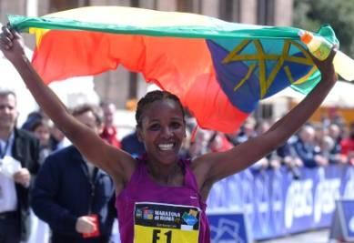 Dado vincitrice della maratona (Foto Ansa)