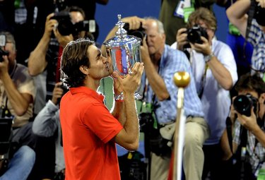 Federer oggi in gara contro Nadal (Foto Ansa)