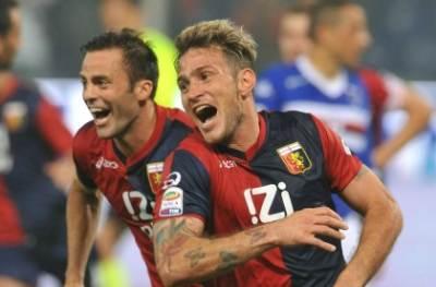 Floro Flores felice dopo un gol (foto Ansa)