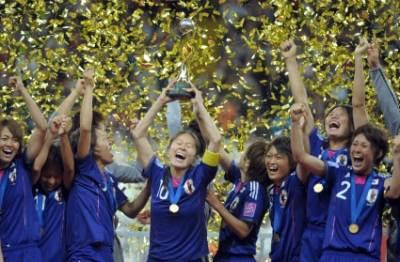 Giapponesi festeggiano il titolo (Foto Ansa)
