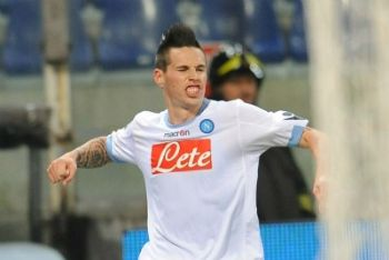 Hamsik felice dopo un gol (Foto Ansa)