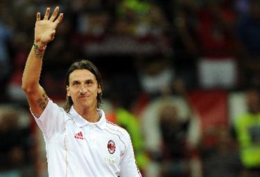 Zlatan Ibrahimovic, attaccante Milan (Foto Ansa)