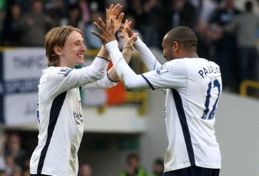 Modric centrocampista del Tottenham (Foto Ansa)