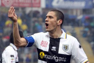 Morrone capitano del Parma (Foto Ansa)