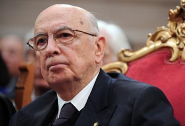 Il Presidente della Repubblica, Giorgio Napolitano (Ansa)