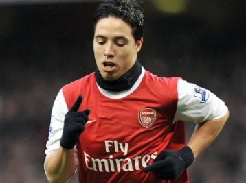 Nasri trequartista dell'Arsenal (Foto Ansa)