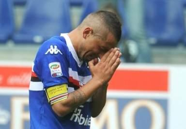 Le lacrime di Capitan Palombo a fine gara (Foto Ansa)