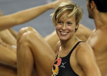 Federica Pellegrini sorridente (Foto Ansa)