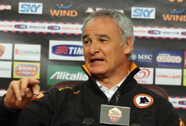 Claudio Ranieri, allenatore Roma (Foto Ansa)