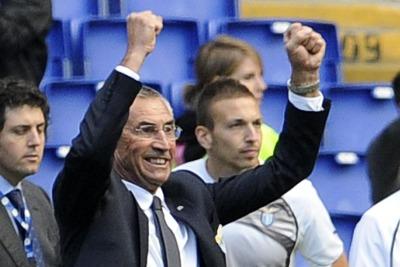 Reja allenatore della Lazio (Foto Ansa)