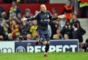 Robben con la maglia del Bayern (Foto Ansa)