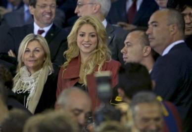 Shakira allo stadio (Foto Ansa)
