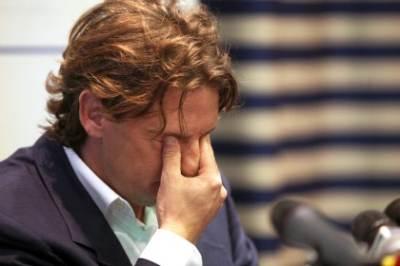 Le lacrime di Beppe Signori (Foto Ansa)