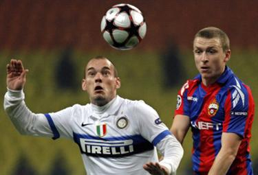 Wesley Sneijder, trequartista Inter (Foto Ansa)