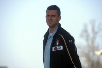 Thiago Motta in gol ieri sera (Foto Ansa)