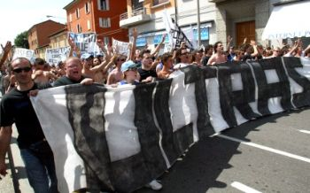 Manifestazione ultras (Foto Archivio)