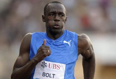Usain Bolt, detentore del record mondiale dei 100 metri (Foto Ansa)