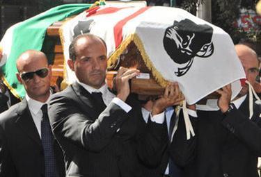 I funerali di Francesco Cossiga (Ansa)