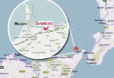 Nella cartina è evidenziata Giammoro, località dove è avvenuto l'incidente (Foto: Ansa)