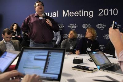 Reid Hoffman, fondatore di LinkedIn (Foto Ansa)