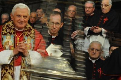 Benedetto XVI a Santiago de Compostela (Ansa)