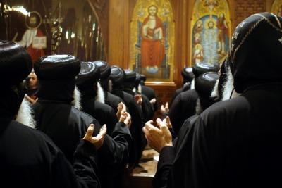 Messa in una chiesa egiziana