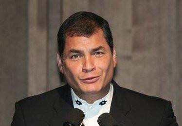 Il presidente dell'Ecuador Correa. Foto Ansa