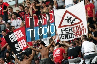 Tifosi Milan all'ultimo derby (ANSA)